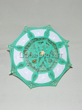 Asian style grass green lace umbrella