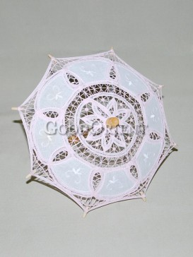 Asian style light pink lace umbrella