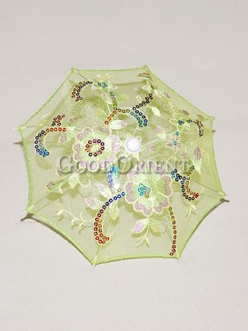 Lovely apple green floral pattern umbrella