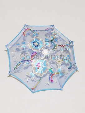 Stunning blue with floral pattern umbrella