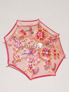 Adorable red floral pattern umbrella