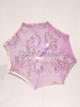Exquisite purple floral pattern umbrella