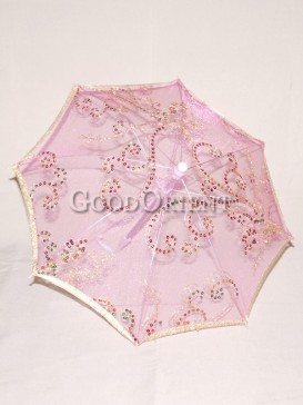 Stylish pink flower pattern umbrella
