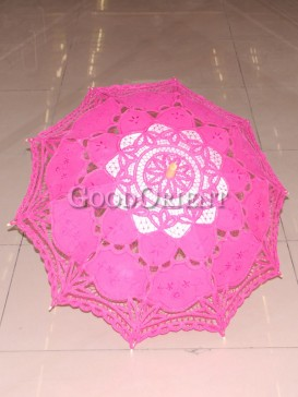 Stunning paper-cut pattern lace umbrella