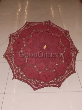 Dark red with paper-cut pattern umbrella