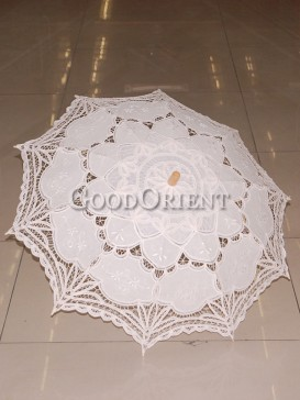 Pure White paper-cut pattern umbrella