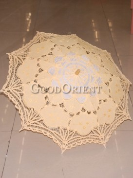 Yellow with paper-cut pattern umbrella