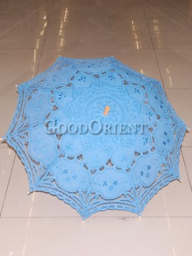 Sky blue with paper-cut pattern umbrella