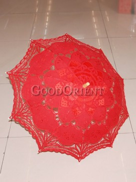 Chinese paper-cut pattern red umbrella