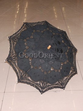 Classical black with paper-cut pattern umbrella