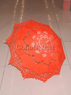 Lovely orange with paper-cut patten umbrella