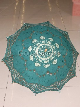 Classical green paper-cut pattern umbrella