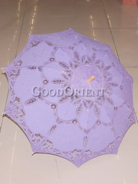 Light purple paper-cut pattern umbrella