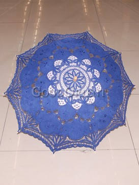 Charming blue paper-cut pattern umbrella