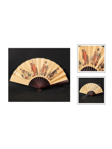 Ancient Beauties Folded Fan