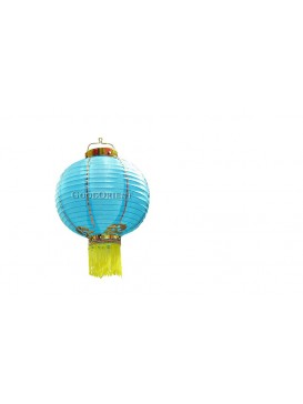 Twin Blue Round Electrical Lanterns Set