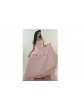 Lovely Pink Girl Wedding Gown
