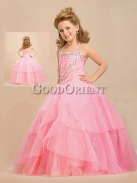 Pink Elegance Princess Formal Flower Girl Dress