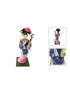 Qing Dynasty Beauty Doll---Playing the Lute