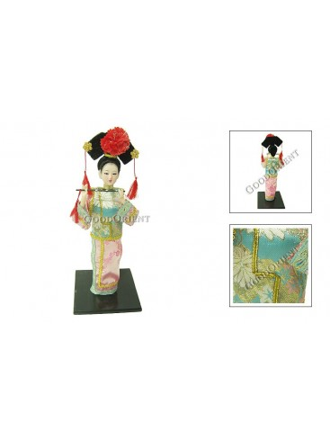 Qing Dynasty Beauty Doll---Playing the Flute