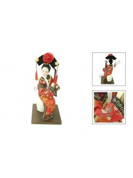Sitting Qing Dynasty Beauty Doll---Playing the Lute