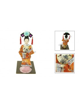 Sitting Qing Dynasty Beauty Doll---Fanning