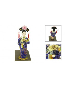 Sitting Qing Dynasty Beauty Doll---Thinking