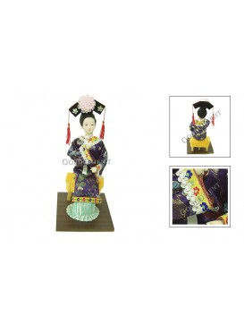 Sitting Qing Dynasty Beauty Doll---Speaking