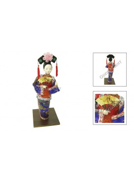 Standing Qing Dynasty Beauty Doll---Fanning