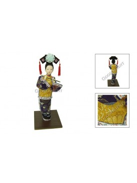 Standing Qing Dynasty Beauty Doll---Playing the Flute