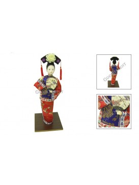 Standing Qing Dynasty Beauty Doll---Thinking
