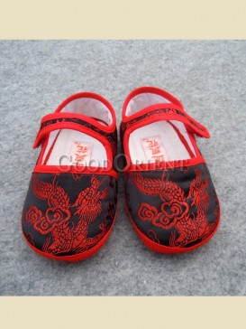 Exquisite embroidery dragon pattern baby shoes