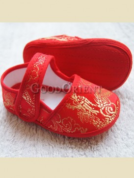Cute embroidery dragon pattern baby shoe