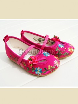 Chinese style with floral pattern baby shoes