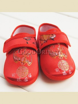 "Attractive chinese calligraphy""Fu""pattern baby shoes"