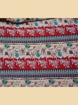 Fashionable stripe floral pattern fabric