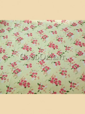 Pale yellow four leaf clovers pattern fabric