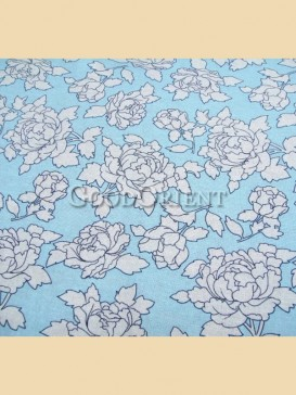 Sky blue with penoy pattern fabric