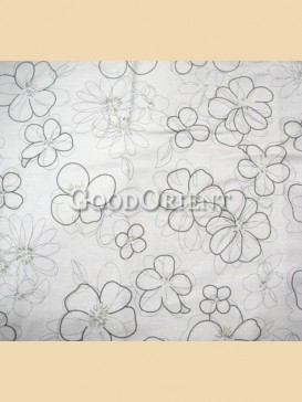 Special white-grey circle pattern fabric