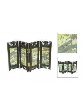 Chinese Folding Mini-Screen--Ancient Houses