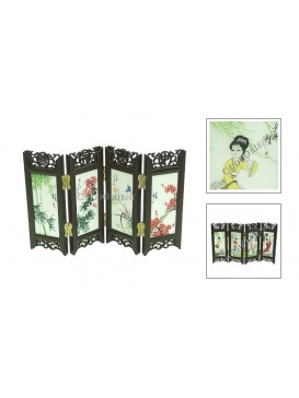 Chineses Folding Mini-Screen--Flowers & Beauties