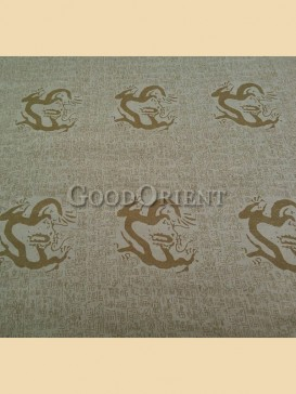 Beige dragon and oracle pattern fabric