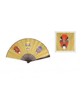 Carbaso Fan---Peking Opera Mask