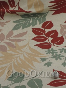 Exquisite leaf pattern linen fabric