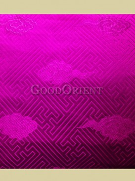 Bright pink check pattern brocade fabric