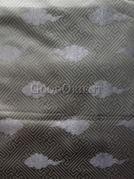 Sliver-Grey check pattern brocade fabric