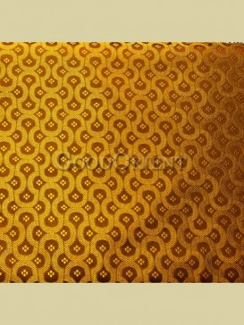 Gold chain floral pattern brocade fabric