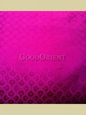 Bright pink chain floral pattern brocade fabric
