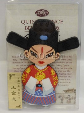 Peking opera figure refrigerator magnets series-Wang Jinlong