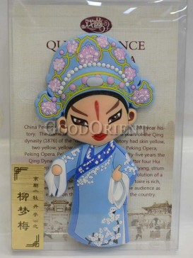 Peking opera figure refrigerator magnets series-Liu Mengmei